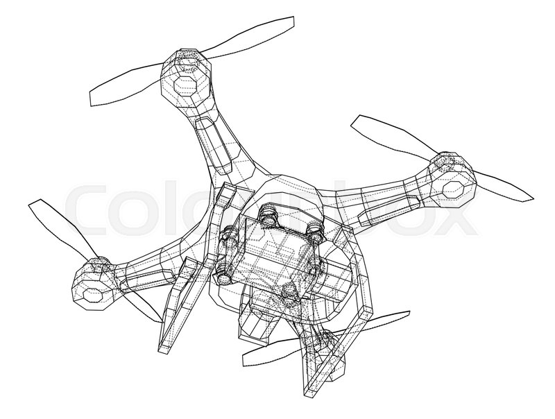 Qadrocopter Or Drone Vector Rendering