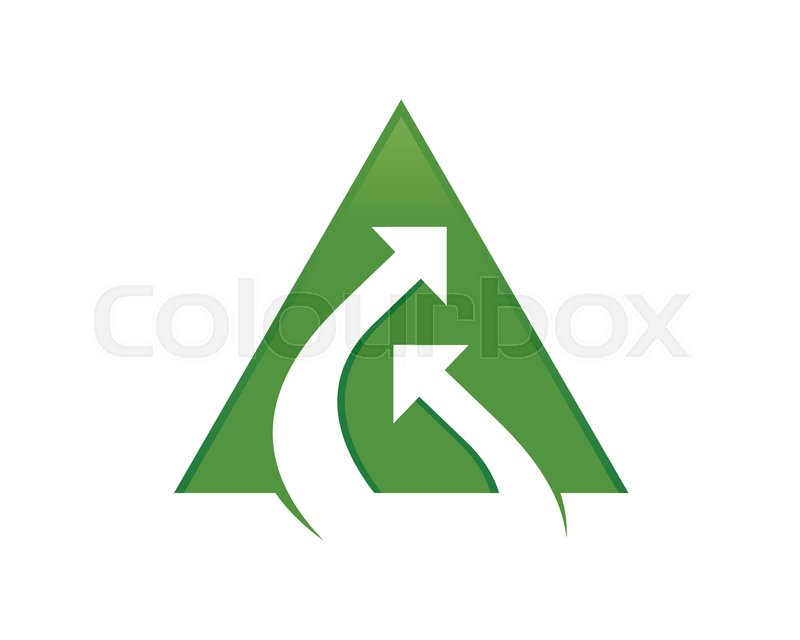Stream Connection Double Arrow Green Triangle Vector Symbol Graphic