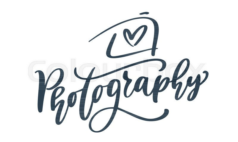 Camera photography logo icon vector template calligraphic ...