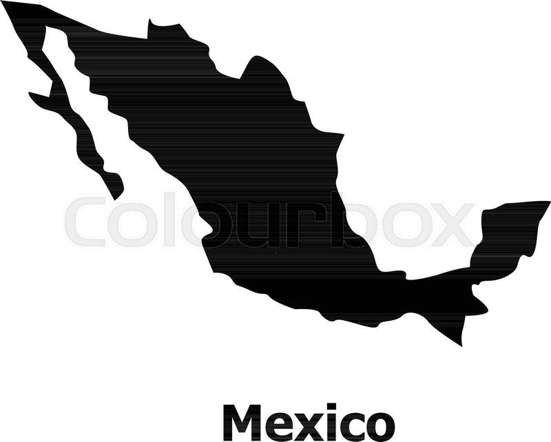 Mexico Map Icon Simple Illustration Stock Vector Colourbox
