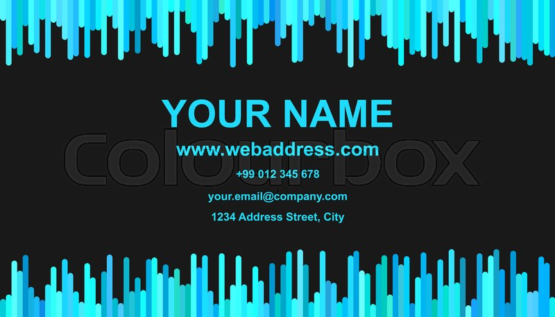 Color business card template design - vector personal information ...