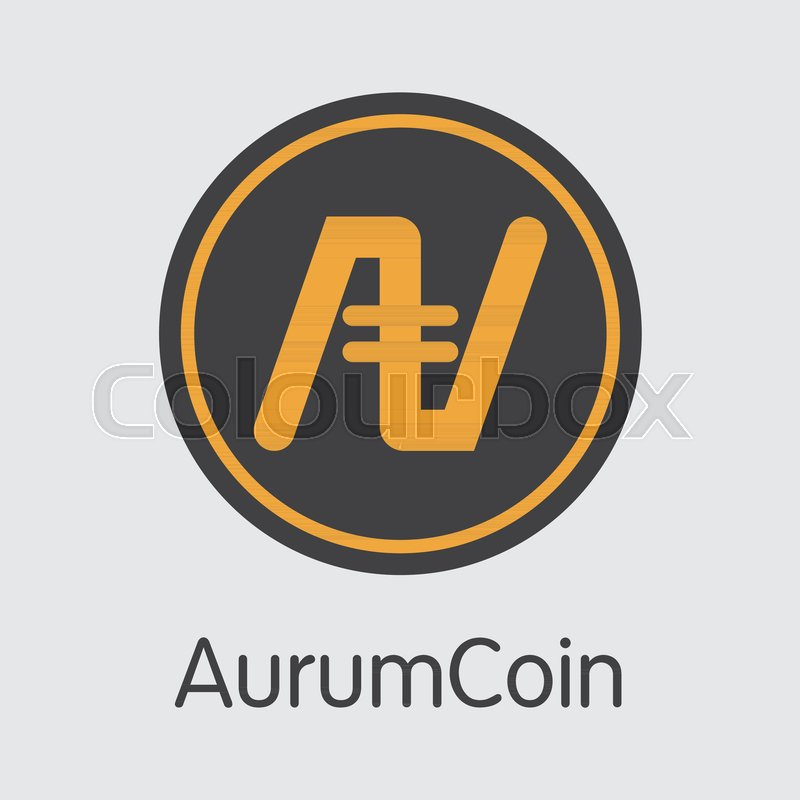 Aurumcoin Crypto Currency Concept Colored Vector Icon Logo And