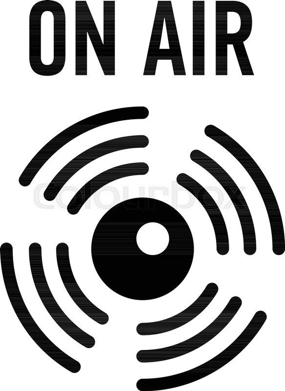 On Air Radio Icon Simple Illustration Of On Air Radio Vector Icon
