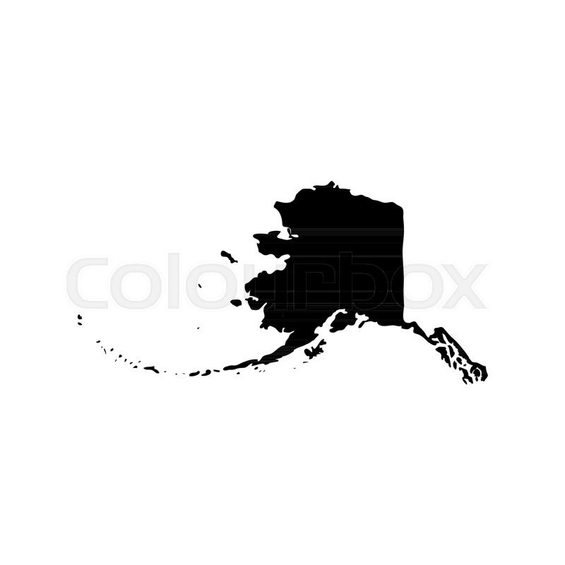 Map Of The Us State Of Alaska On A Stock Vector Colourbox - Us-map-alaska-state