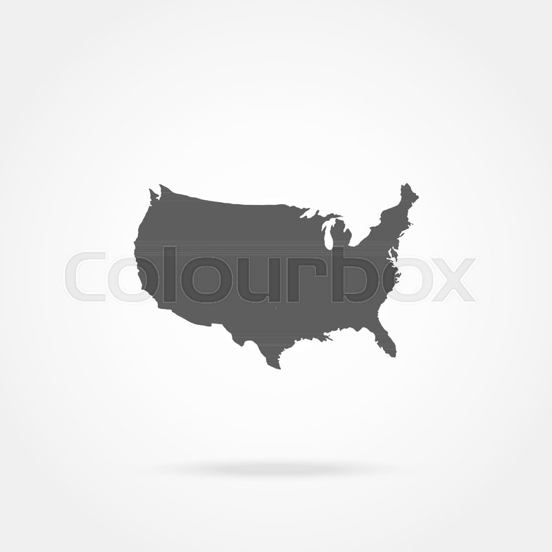United States of America Map ,vector ... | Stock Vector | Colourbox
