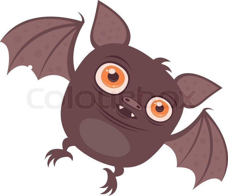 Vector tegneserie illustration af en sød buttet Vampire ...