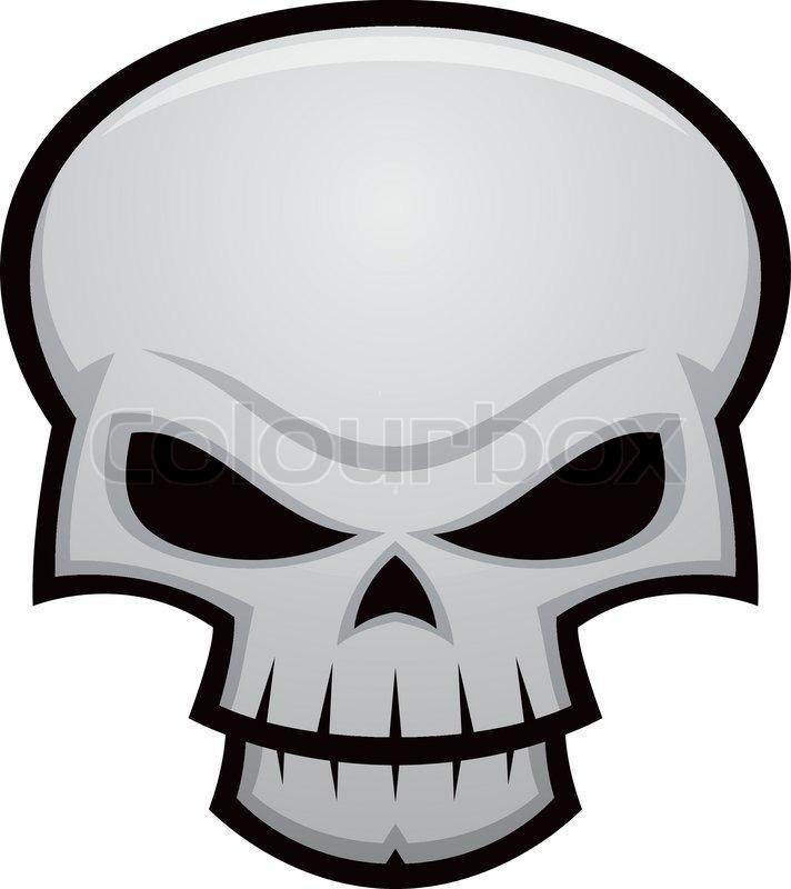 cartoon vector illustration of an evil stylized skull stock rh colourbox com cartoon skeleton head clip art Skeleton Head Girl
