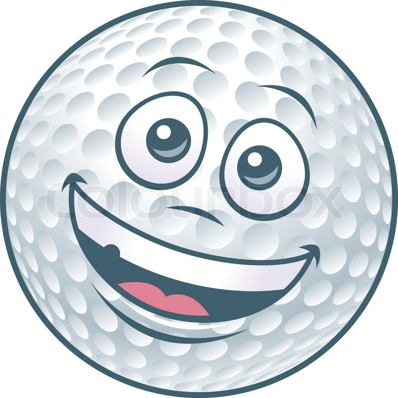 Cartoon Golfball-Charakter   Vektorgrafik   Colourbox