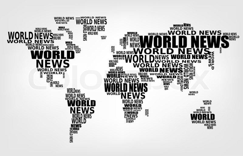 World news concept. Abstract world map  | Stock Photo | Colourbox