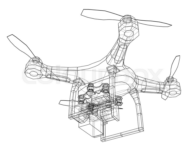 Drone Concept Vector Rendering Of 3d