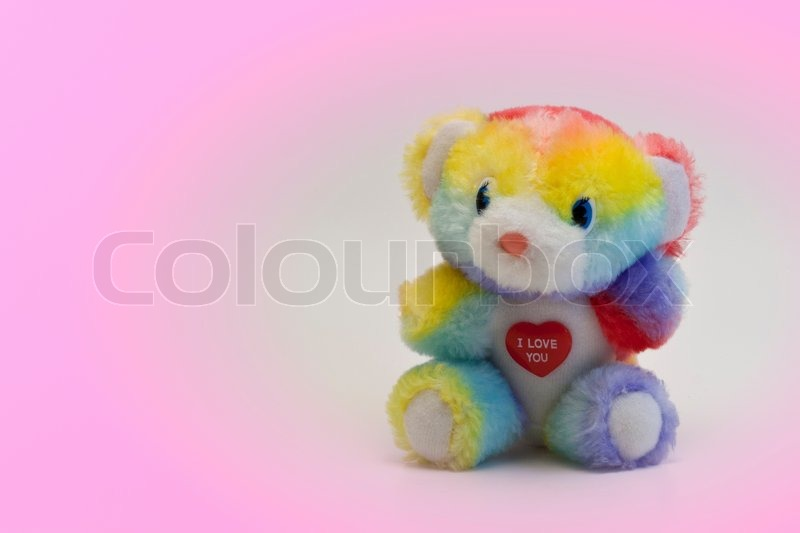 Cute colorful teddy bear with i love you message stock photo cute colorful teddy bear with i love you message stock photo colourbox altavistaventures Choice Image