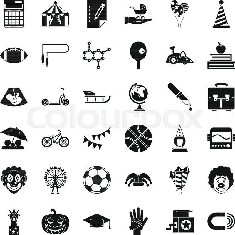 Helpdesk icons set. Simple style of 36 helpdesk vector icons for web ...