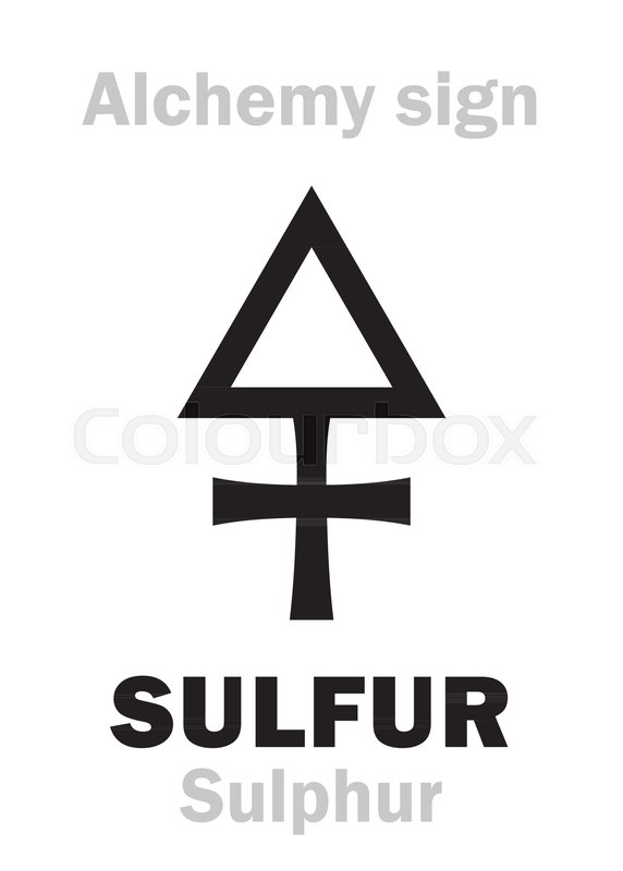 Alchemy Alphabet Sulfur Sulphur One Of Three Primes Also