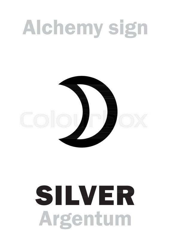 Alchemy Alphabet Silver Argentum Luna Precious Noble Metal
