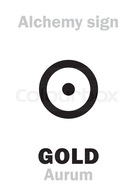 Alchemy Alphabet Gold Aurum Sol Precious Noble Metal Chemical