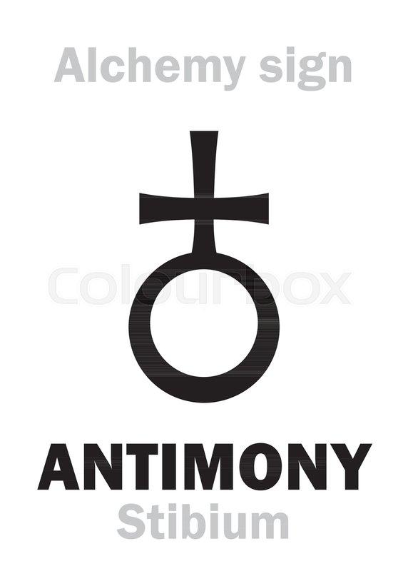 Alchemy Alphabet Antimony Stibium One Of Mundane Staffs Eq