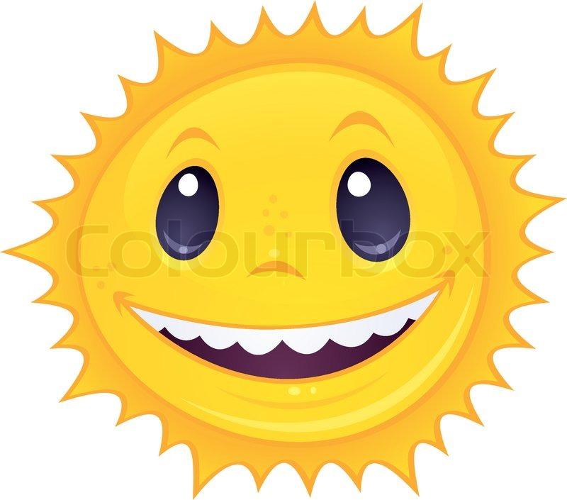 Smiley Sun Stock Vector Colourbox