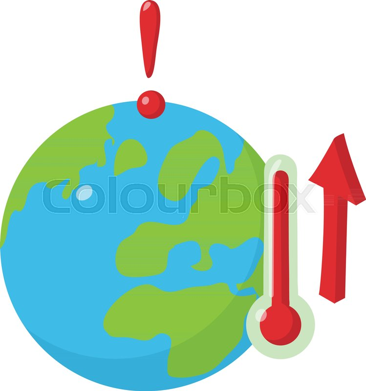 Global Warming Icon Isometric Illustration Of Global Warming Vector