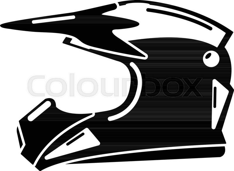 Motorcycle helmet icon. Simple illustration of motorcycle helmet ...