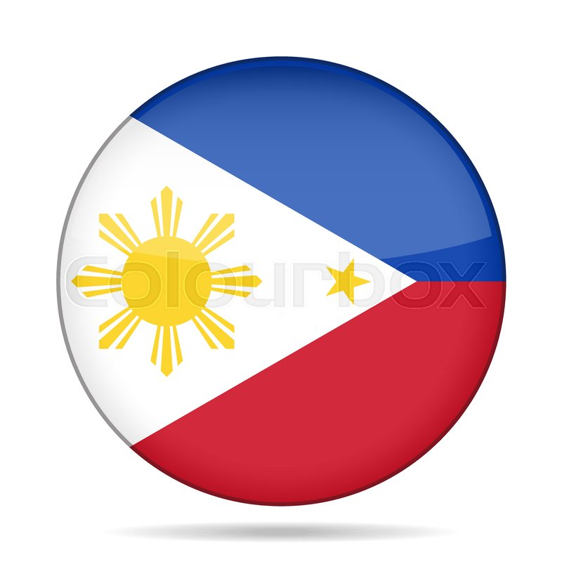 national flag of philippines shiny round button with shadow rh colourbox com