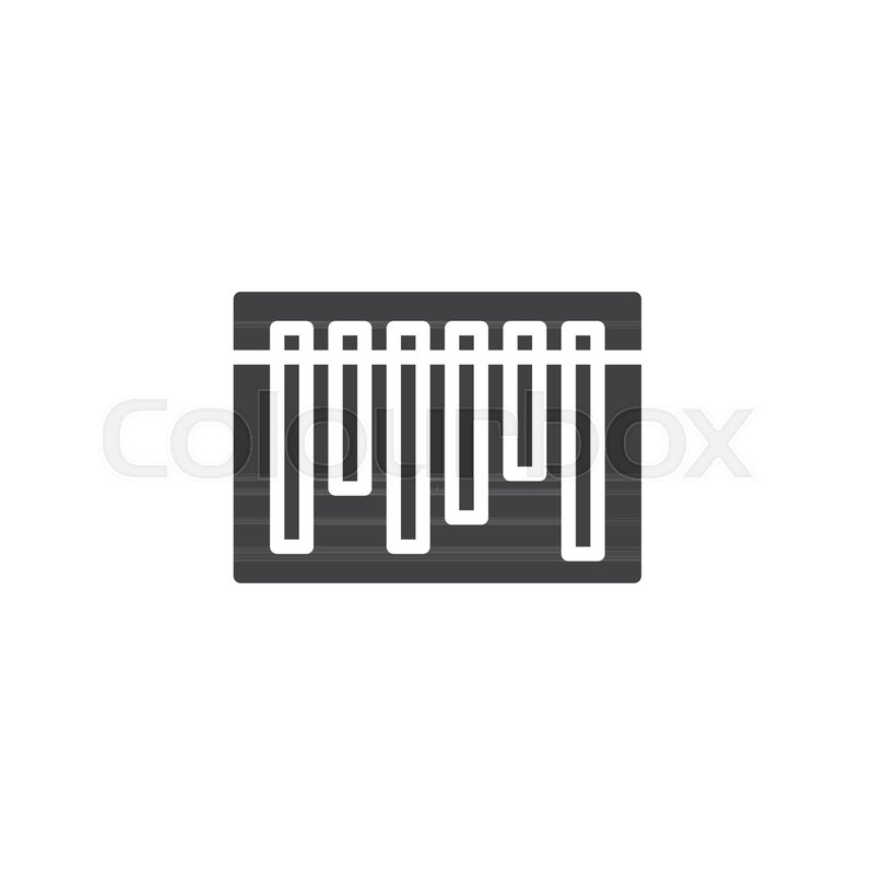 Barcode vector icon  filled flat sign     | Stock vector