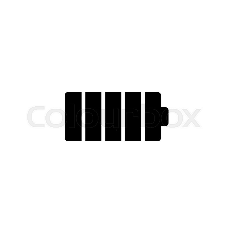 Cellular Battery. Flat Vector Icon. Simple black symbol on white ...