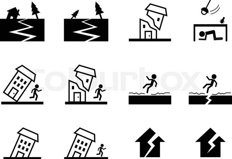 insurance flat icon set stock vector