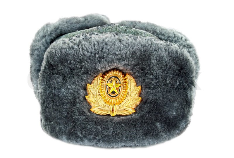 87d787d7669 Russian winter army hat isolated on ...