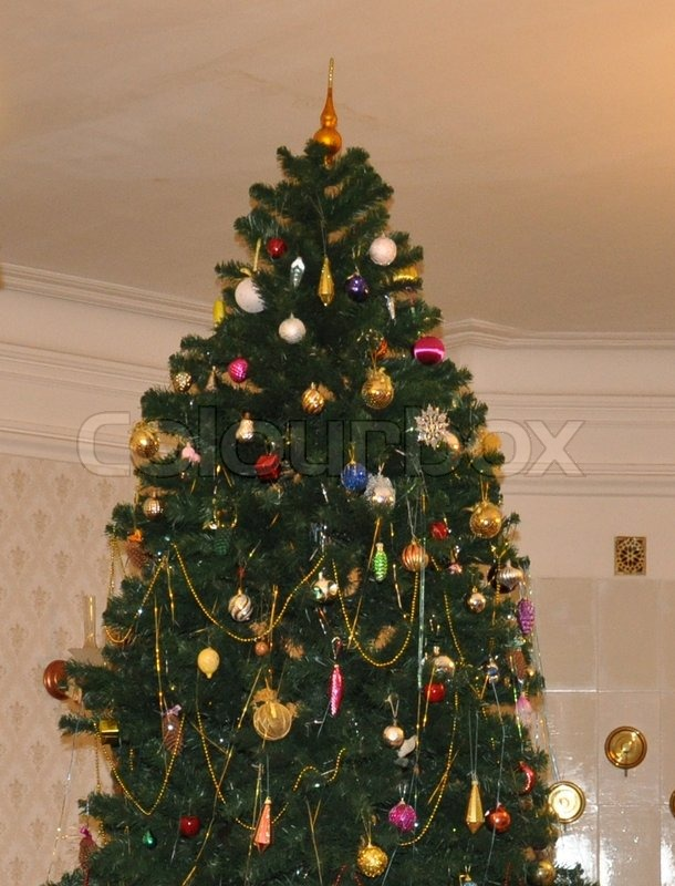 The New Year Tree In Russia Stock Photo Colourbox
