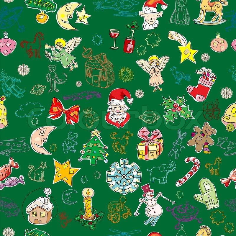 weihnachten muster mit spielzeug und saison gr e symbole. Black Bedroom Furniture Sets. Home Design Ideas