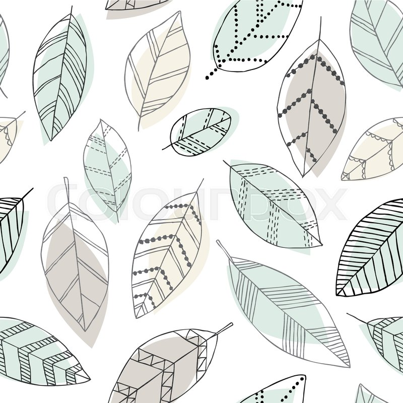 Beautiful seamless doodle pattern with ...   Stock vector   Colourbox