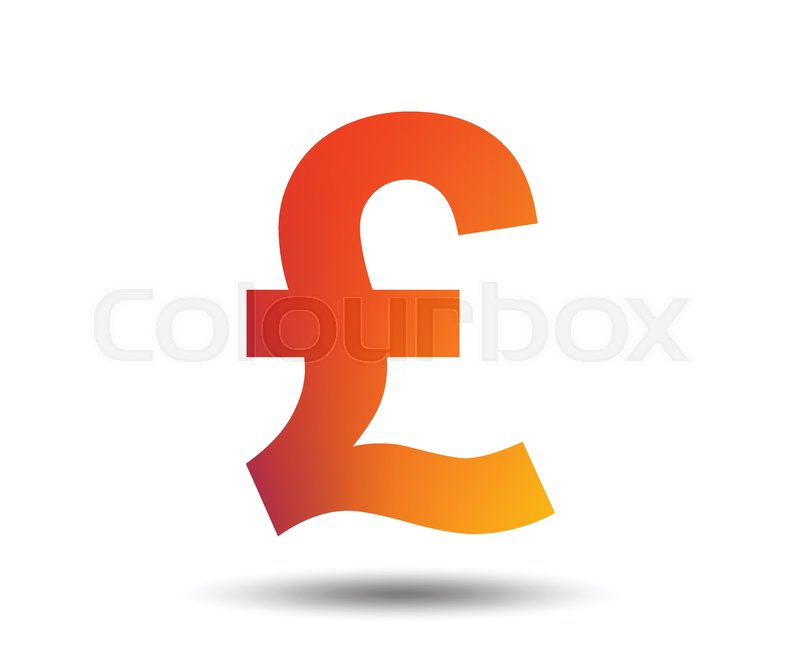 Pound Sign Icon Gbp Currency Symbol Money Label Blurred Gradient