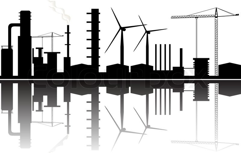 Industrial Background Stock Vector Colourbox