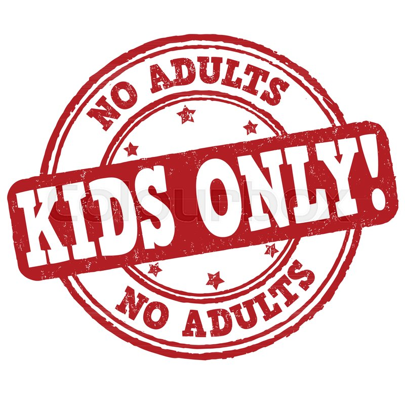 Kids Only Grunge Rubber Stamp On White