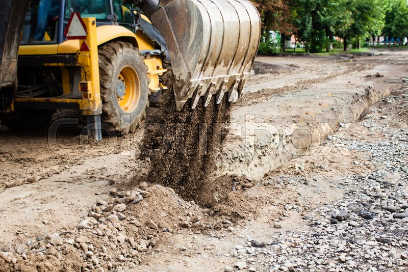 Image result for road construction in a suburban community