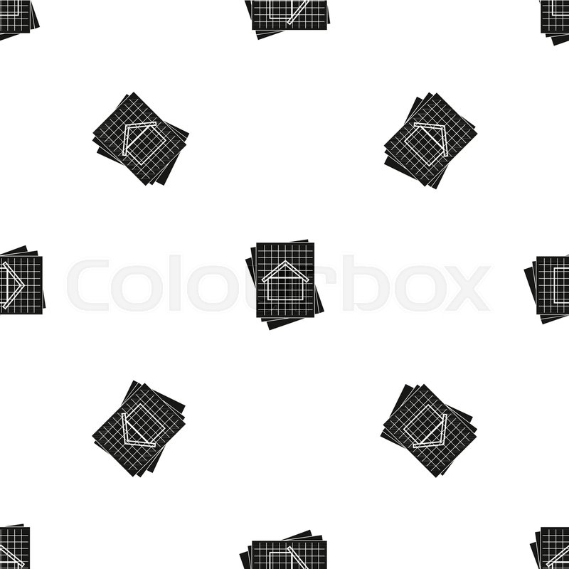 House blueprint pattern repeat seamless in black color for any house blueprint pattern repeat seamless in black color for any design vector geometric illustration stock vector colourbox malvernweather Images