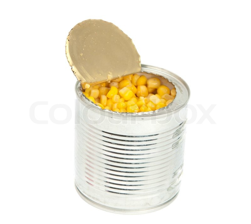 Canned corn isolated on white background | Stock Photo | Colourbox