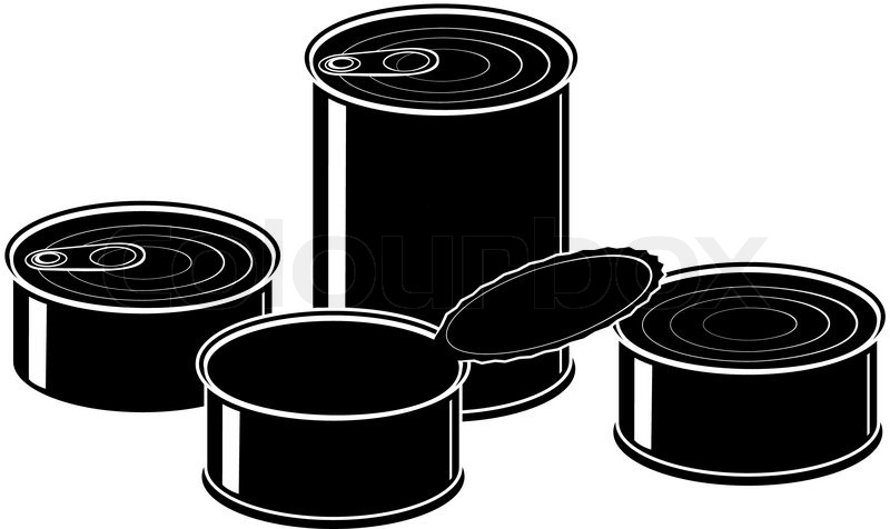 canned food clip art black and white wwwpixsharkcom