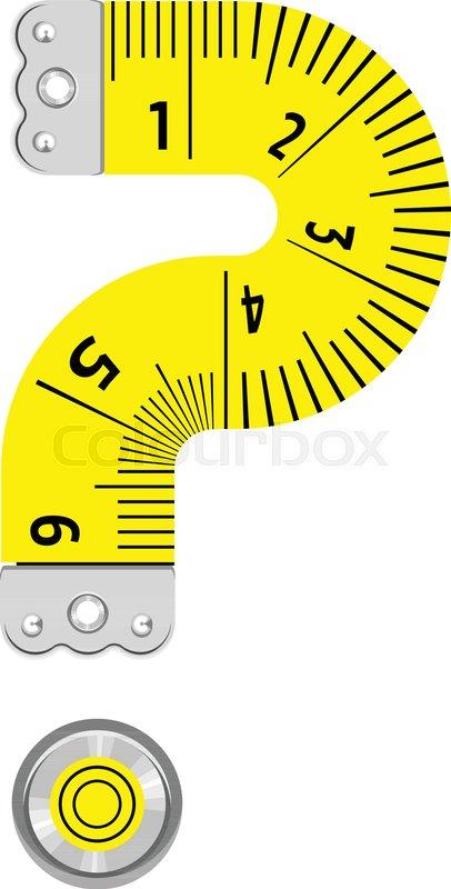 Sign Question Mark Ruler Icon Cartoon Stock Vector Colourbox