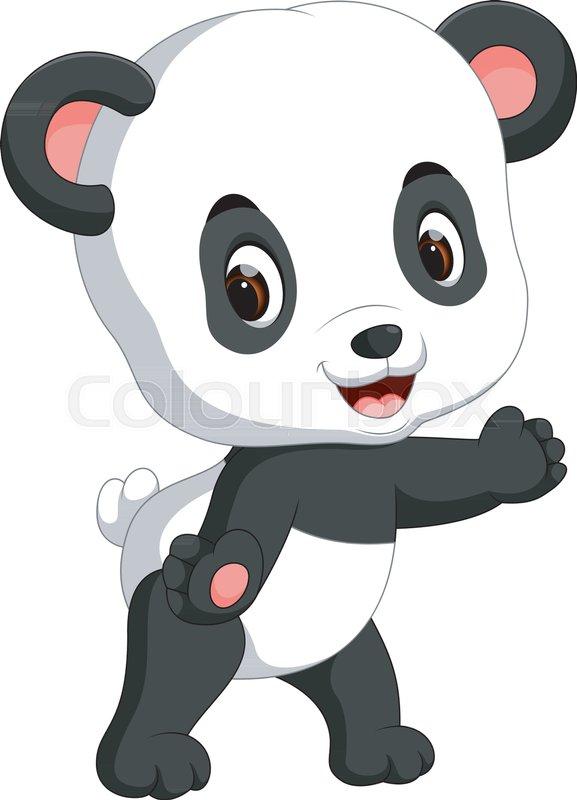 Illustration Of Cute Baby Panda Stock Vector Colourbox
