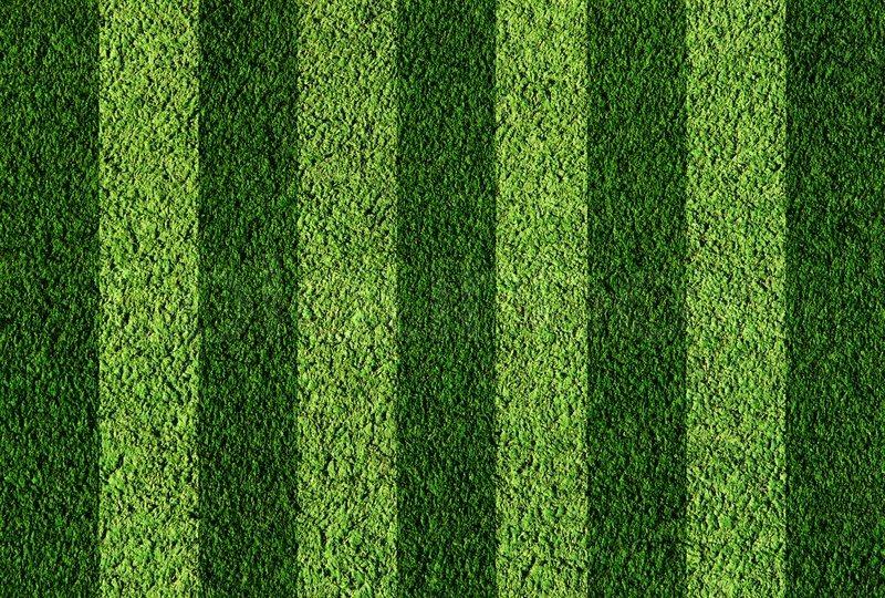 Not Natural Football Green Grass Stock Photo Colourbox