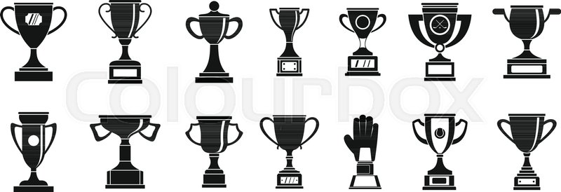 Stock Vector Of Trophy Cup Icon Set Simple Icons