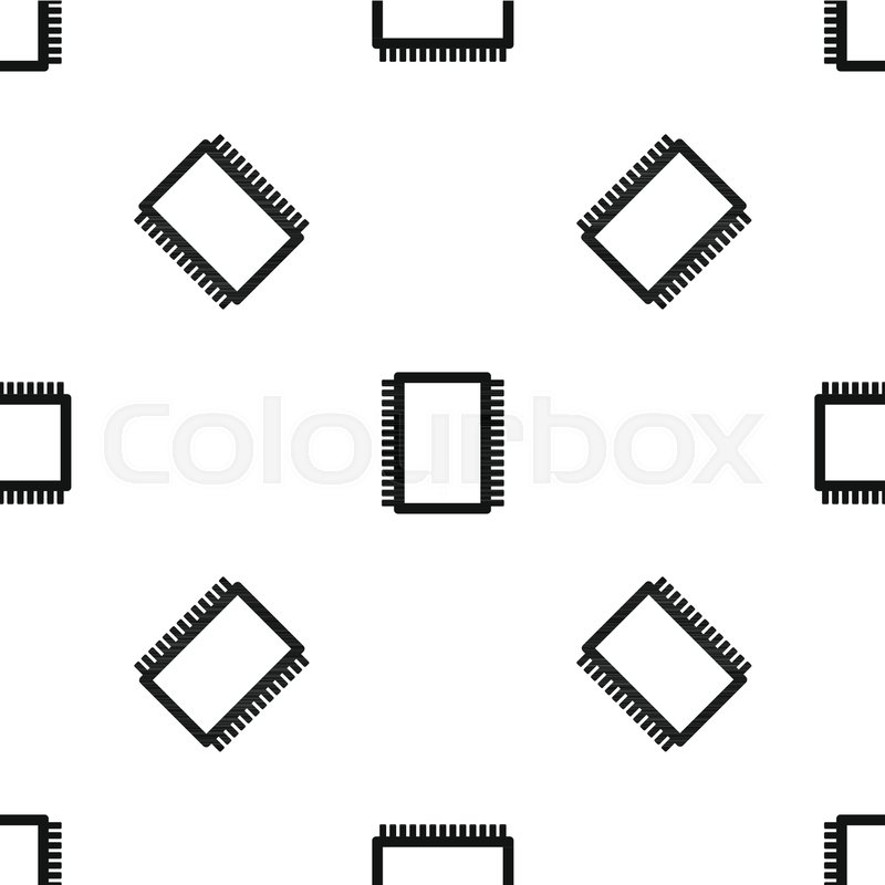 Computer electronic circuit board pattern repeat seamless in black ...