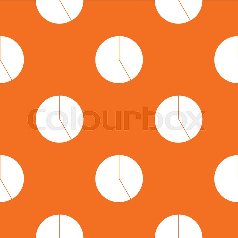 Abstract Pie Chart For Business Pattern Repeat Seamless In Orange