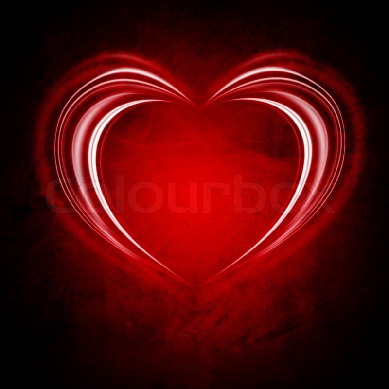 Stock image of 'Glowing Valentine backround with heart and stars'