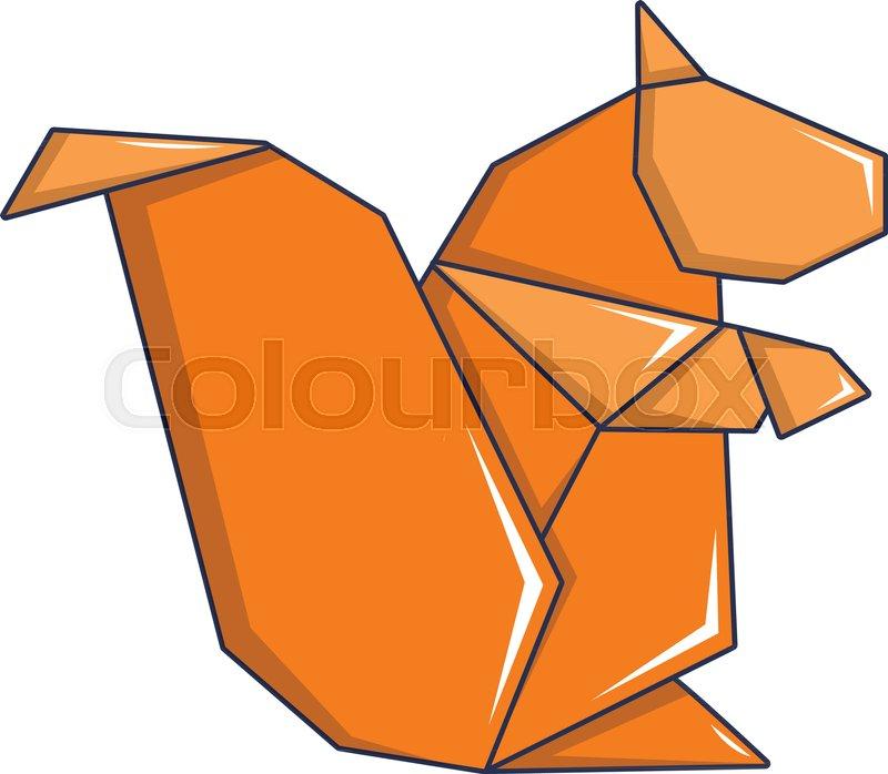 Origami Squirrel Icon Image & Photo (Free Trial)   Bigstock   698x800