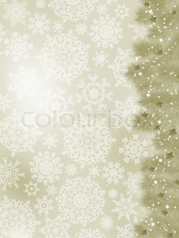 Stock vector of 'Thank you card on a elegant christmas card'