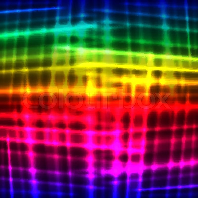 rainbow neon vector background stock vector colourbox