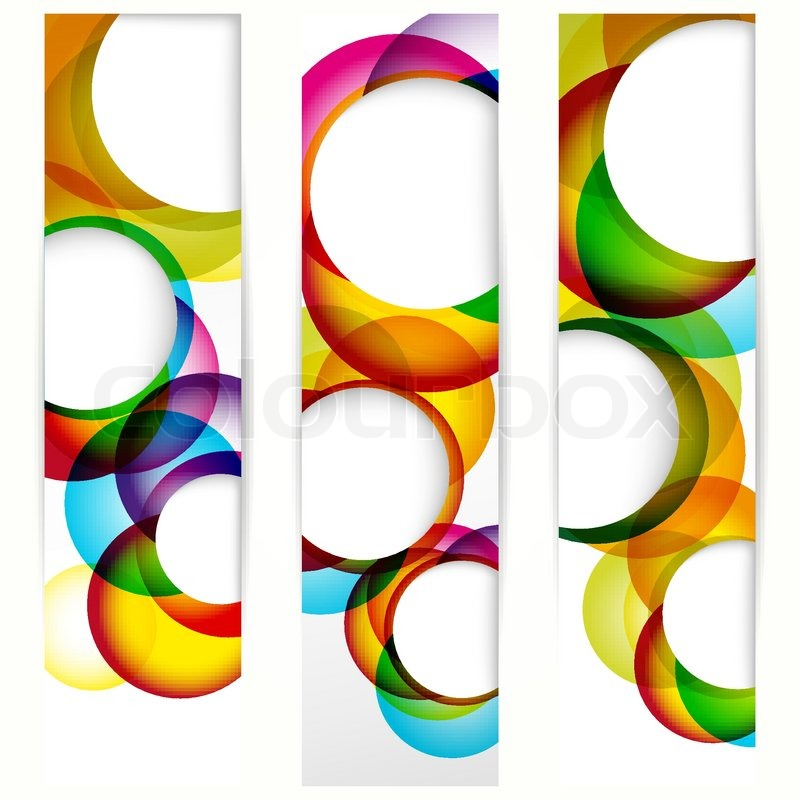 Stock vector of 'Abstract vertical banner with forms of empty frames for your www design'