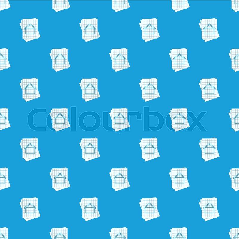 House blueprint pattern repeat seamless in blue color for any design house blueprint pattern repeat seamless in blue color for any design vector geometric illustration vector malvernweather Choice Image